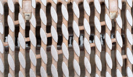 metal grate: Iron rusty drain. Background, texture