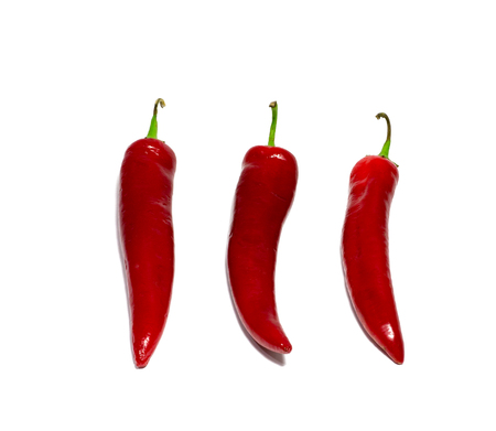 hot red chili pepper isolated on white background. food, object.