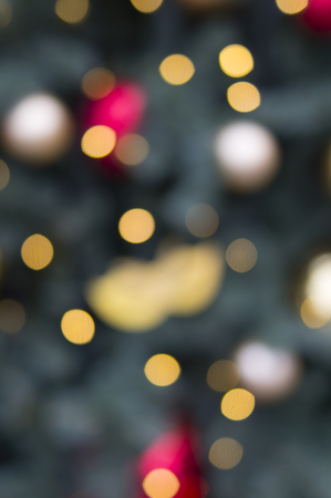 bokeh of christmas colored lights. background, texture.