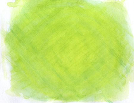 abstract green lined watercolor background, texture. Stock Photo