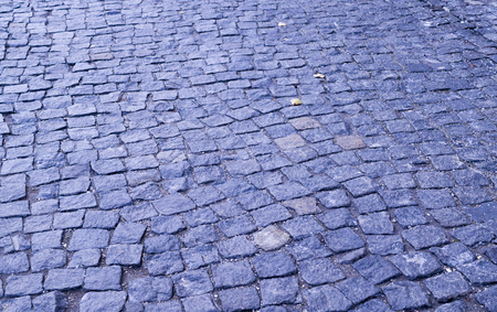 paved tiled sidewalk with perspective view. background, urban.