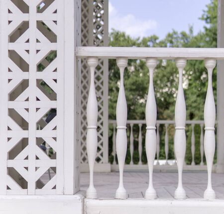 white painted wooden fence pattern. texture, architecture.