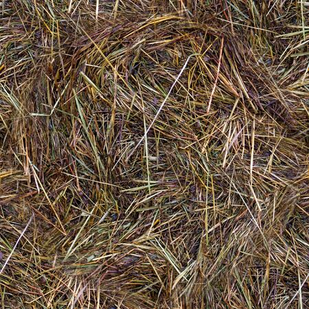 Wet hay harvest texture at rainy day. 版權商用圖片