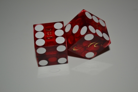 Two red dices  photo