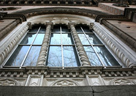 foreshortening: Window on a facade
