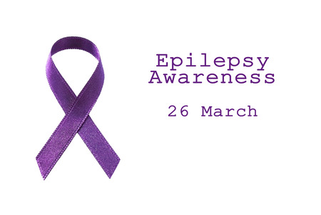 Purple Ribbon For Epilepsy Day