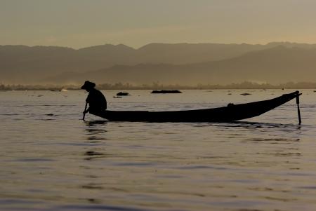 Fisherman of Inle Lake,Myanmar photo