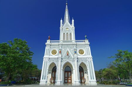 house of prayer: Church, Nativity of Our Lady Cathedral, samut songkhram, Thailand