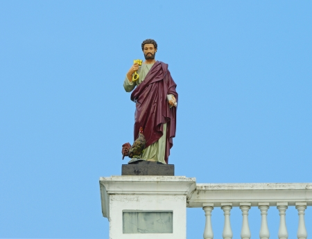 apostle paul: Statue of Apostle Paul, Nativity of Our Lady Cathedral,  samut songkhram, Thailand