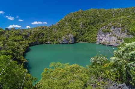 Ko Mae Ko lake in Ang Thong Marine National Park, south of thailand photo