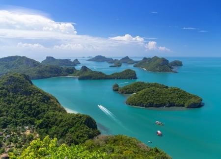 Top view of Ang Thong National Marine Park, Thailand