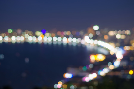 Pattaya seascape at twilight time, Blurred Photo bokeh photo
