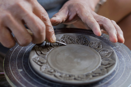 Carving clay for make earthenware, clear surface action