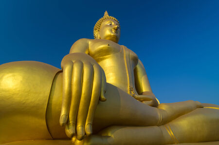The Big beautiful Buddha at Wat Muang Temple, Angthong, Thailand photo