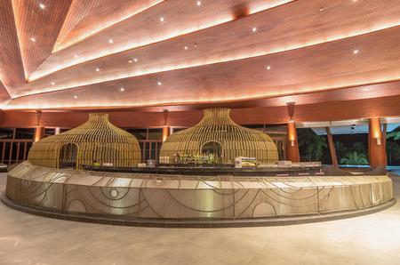 graceland: KHAOLAK, THAILAND - NOV 1 : Lobby and bar of the SENTIDO Graceland Khao Lak Resort & Spa.is located on Bangsak Beach and is located 90 kilometres north of Phuket, on November 1, 2013 in Khaolak, Thailand