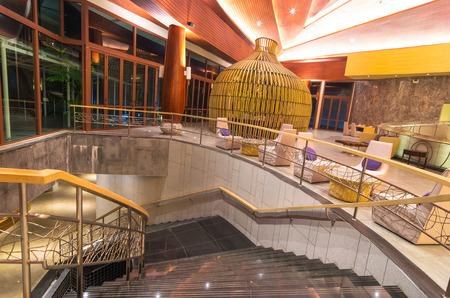 graceland: KHAOLAK, THAILAND - NOV 1 : Lobby of the SENTIDO Graceland Khao Lak Resort & Spa.is located on Bangsak Beach and is located 90 kilometres north of Phuket, on November 1, 2013 in Khaolak, Thailand Editorial