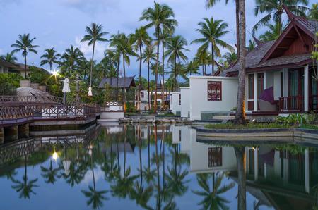 graceland: KHAOLAK, THAILAND - NOV 2 : Architecture exterior of the SENTIDO Graceland Khao Lak Resort & Spa.is located on Bangsak Beach and is located 90 kilometres north of Phuket, on November 2, 2013 in Khaolak, Thailand Editorial