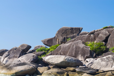 Similan islands, Beautiful view of donald duck or boot rock, Thailand photo