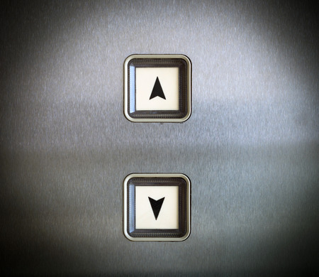 Elevator Button up and down direction, vintage style photo