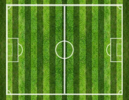 cancha de futbol: campo de fútbol, ??Fondo de la hierba verde y la textura Foto de archivo