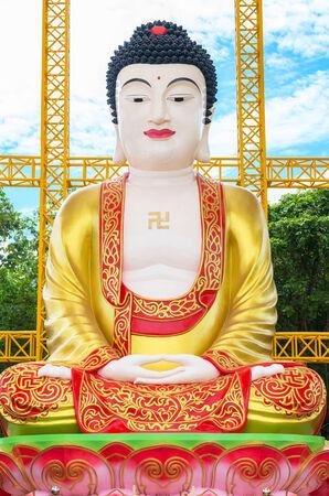 chinese buddha: The Big beautiful chinese buddha,phitsanulok province, Thailand