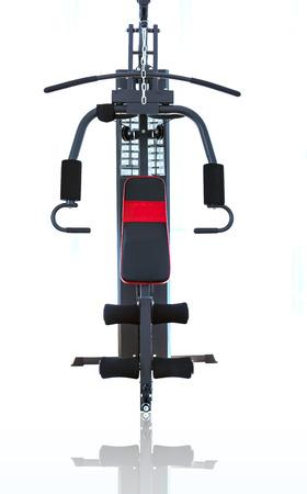 machines: fitness machines on white background