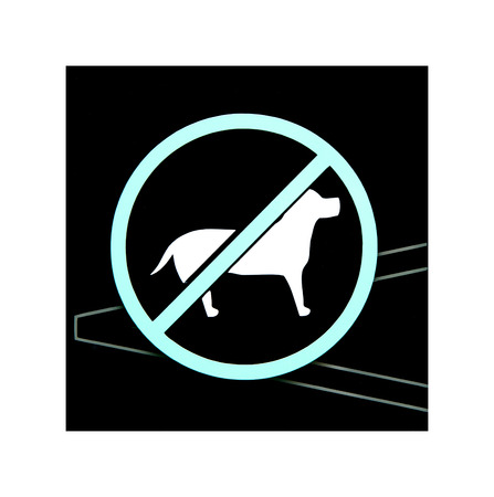 illegal zone: no dogs sign