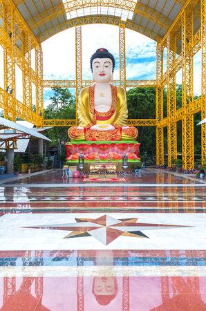 The Big beautiful chinese buddha,phitsanulok province, Thailand photo