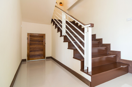 Bright space - Interior staircase with cabinet photo
