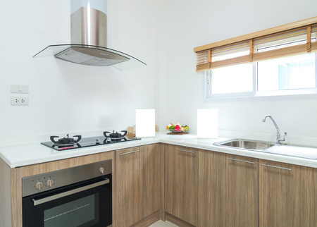 Interior kitchen with electric photo