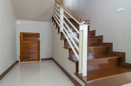 bright space: Bright space - Interior staircase with cabinet