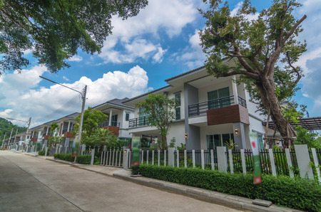 townhomes: Exterior Townhome or Townhouse Stock Photo
