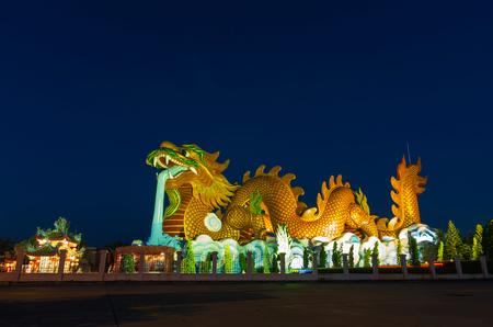 Golden Dragon at Suphanburi, Thailand, Public architecture for travel photo