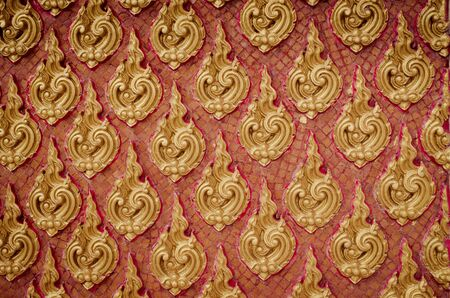 wat: Golden Thai decorative pattern, background and texture Stock Photo