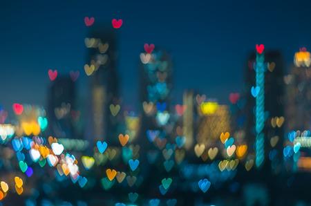 saint valentin coeur: Coeur bokeh fond, concept Amour Banque d'images