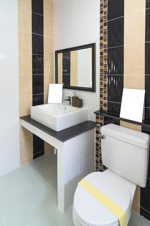 bathroom interior: Interior bathroom in Luxury Home