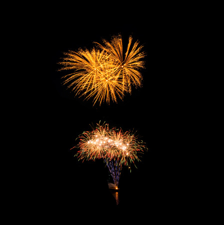 fires artificial: Multicolor fireworks Stock Photo