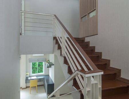 Luxury Interior staircase between follor photo
