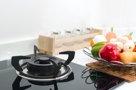 Interior kitchen, detail of electric stove