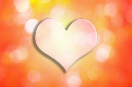 corazon: Valentine Heart with bokeh Background