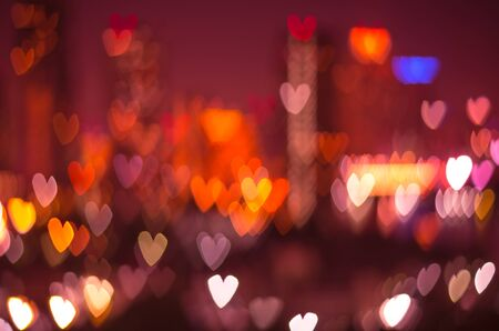 Heart bokeh background, Love concept