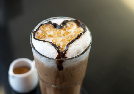 Ice Cappuccino with heart