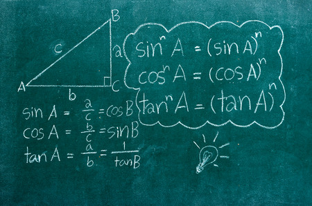 mathematics formulas on a blackboard