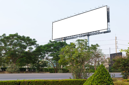 advertisement: Blank billboard for new advertisement