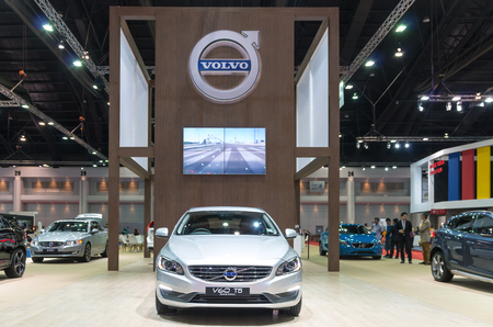 t5: BANGKOK - APRIL 3 : Volvo V60 T5 Special edition on the stage show in The 36 th Bangkok International Motorshow , on April. 3, 2015 in Bangkok, Thailand Editorial