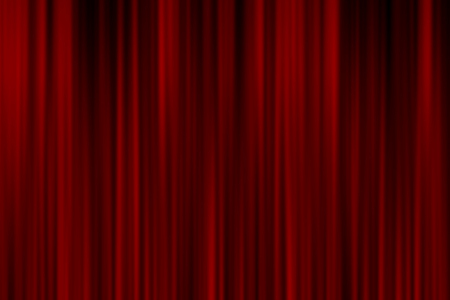 realistic: Realistic red curtain