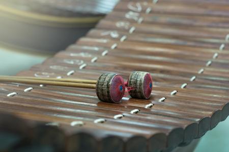 thai musical instrument: Thai musical instrument (Alto xylophone),asian instrument