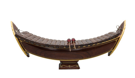 thai musical instrument: Thai musical instrument (Alto xylophone) on white background,asian instrument,include clipping path