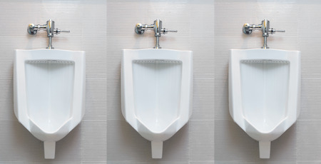 urinal: Urinal in male restroom