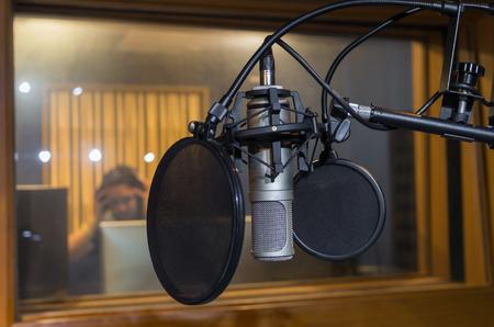 condenser: Professional condenser studio microphone, Musical Concept